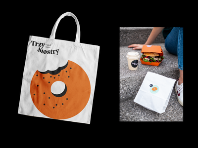 Trzy Siostry branding cafeteria café photography packaging bags food identity vector illustration cafe logo cafe branding logo typography