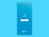Drei Mobile App app design app animation mobile ux ui design branding