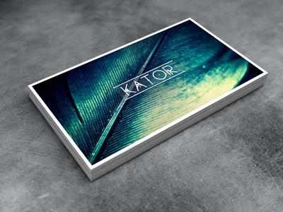 KATOR ci business card branding