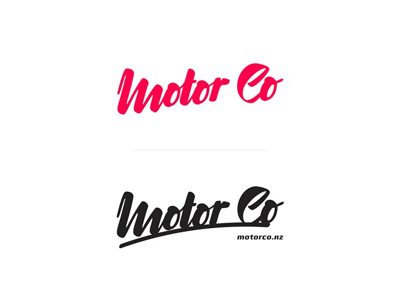 Motor Co motor logotype car typo branding logo