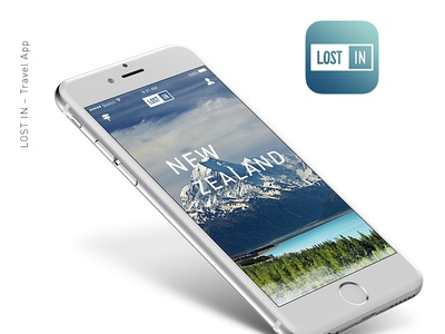 LOST IN - Travel App app ux ui web design branding travel