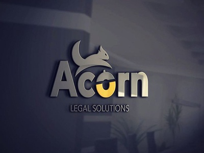 Acorn LS illustration squirrel acorn branding logotype logo