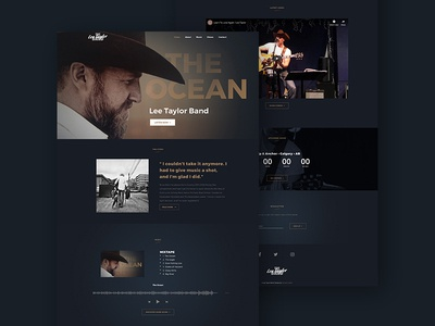 The Lee Taylor Band country music music web developement web design wesite logo branding