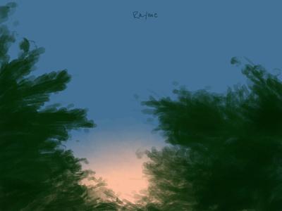 Sunset views dusk sunset scenery dribbbble dribbble best shot illustration