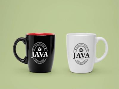 Mug design java amblem badge logodesign logo graphic package design coffee mug
