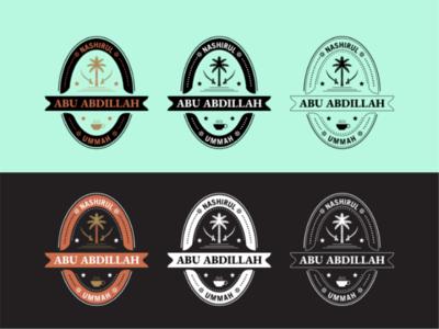 Arabic Badge Logo branding graphic coffee arabic design logo badge amblem