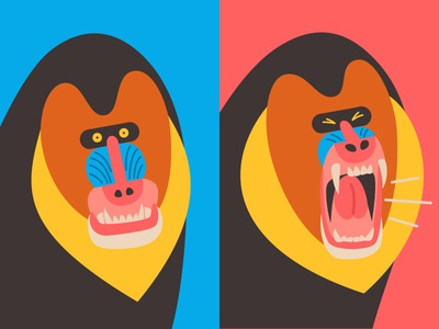 Which Animal Murders the Most? yell calm angry mandrill monkey animal