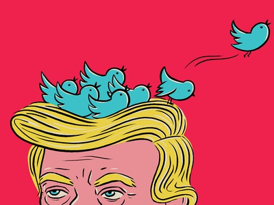Trump's tweets launch fly social media birds nest trump twitter