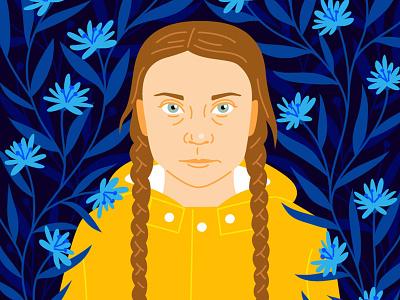 Greta Thunberg portrait school strikes global warming greta thunberg activist climate change
