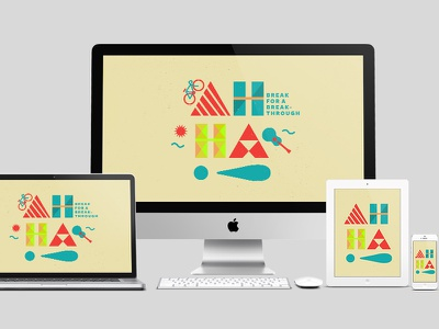 Break for a Breakthrough Wallpaper wallpaper desktop mobile background breakthrough free download inspiration design illustration typography type