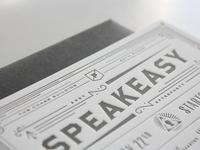 Secret Speakeasy Invitations