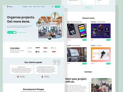 Time.ly agency design app design branding agency website agency landing page agency ux ui webdesign mobile design mobile app