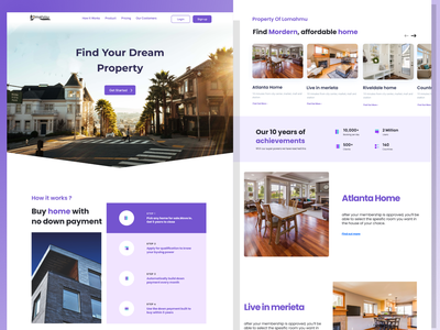 Real Estate Landing Page agency website agency design mobile design agency landing page uiuxdesign ux real estate agent realestate website design webdesign ui uiux