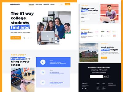 nggolekjob-landing page jobfinder uiuxdesign ui design design agency agency landing page agency website ux ui webdesign