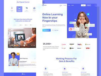 Edulite Landing Page - Online Learning Platform mobile app mobile design uiuxdesign mobile app design webdesign agency website agency design ux ui