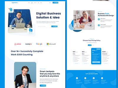 Digitalents-Landing Page illustration web design branding ux mobile app mobile design logo agency website ui agency design