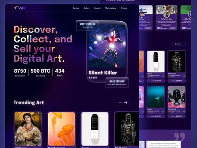 NFT art -Marketplace 😁 motion graphics graphic design 3d animation logo branding illustration agency website mobile design mobile app web design marketplace nft agency ui ux design