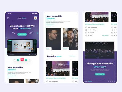 Responsive SmartEvent -  Landing Page 😁 web design graphic design logo branding mobile app illustration mobile design agency website agency ui ux design