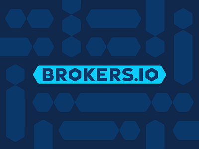 Brokers.IO Block Chain Pattern block chain crypto currency hexagon design pattern logotype type typography logo