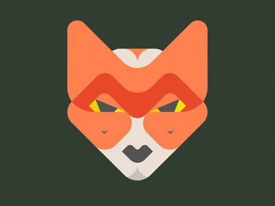 Fox WIP vector design face geometic animals animal fox illustration