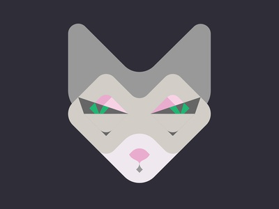 Occult Cat design illustration geometic eyes animals vector face cat illustration punk animal occult cat