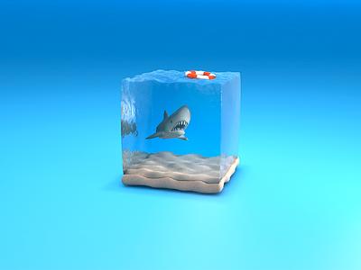 Safe area shark.buoy.water.sea the