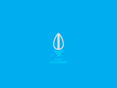 Aqua Surfboards clean modern board surf ocean blue water drop minimalism minimalist logo logo design