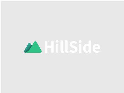 HillSide Logo green clean minimalism minimalist graphic design logo logo design