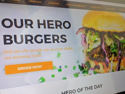 Hero Burgers css html web design ui ux