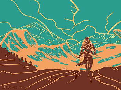 Origin (Assassin's Creed) wallpaper hd artwork art artist background illustrator illustration