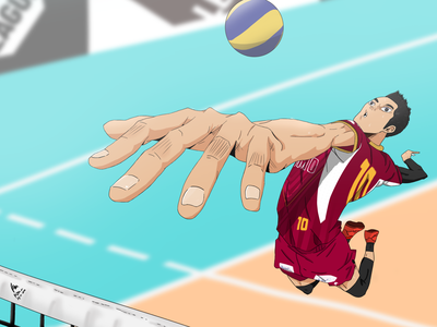 Rivan Nurmulki (Haikyuu! Style) art indonesia haikyuu volleyball anime art background art anime