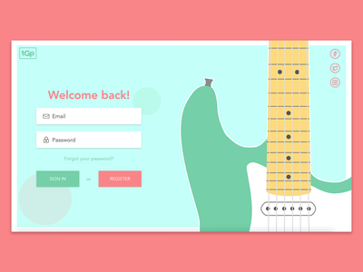 Daily UI 001: The Guitar Project