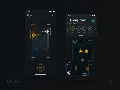Smart Home hightech ux ui smarthouse smarthome mobile iot ios innovation futuristic cyberpunk