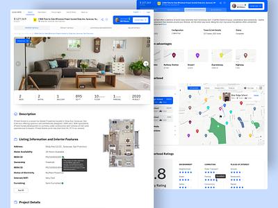 Property Listing Website web ui design flat product details sketch listing real estate website ui design