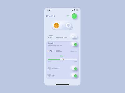 Neumorphic Smart Home light futuristic mobile ios hightech smart home iot innovation neumorphism