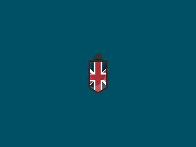 British Real Estate british uk logo badge real estate house flag great britain