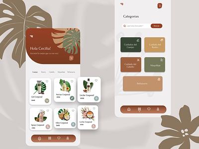 Cosmetic App Redesign visual design redesign ui ux uxui beauty skincare skin natural cosmetic app