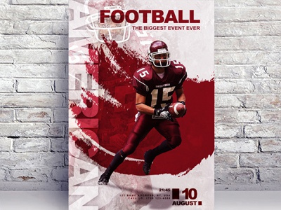 American Football Free Flyer Template sports templates template flyer template psd free psd flyer free flyer template flyer psd free flyer free flyer download flyer event flyer american football american