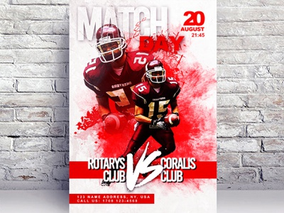Match Day American Football Free Flyer Template template psd template flyer template psd match day free psd flyer free flyer template flyer psd free flyer free flyer download flyer event flyer american football american