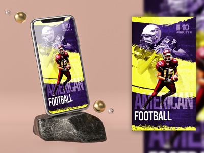 AMERICAN FOOTBALL INSTAGRAM STORIES TEMPLATE V2 templates flyer psd free template free story stories social pack social media instagram story instagram post instagram banners instagram banner instagram insta story insta post