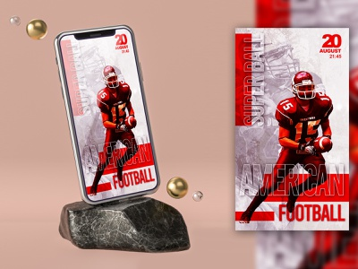 AMERICAN FOOTBALL SUPER BALL INSTAGRAM STORIES TEMPLATE psd flyer psd free template free story stories social pack social media instagram story instagram post instagram banners instagram banner instagram insta story insta post