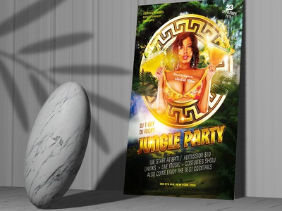 FREE DOWNLOAD JUNGLE PARTY PSD FLYER TEMPLATE event flyer templates template flyer free psd flyer flyer free flyer flyer psd free flyer template template free