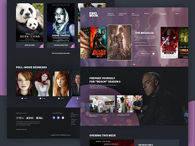 Kinobook ui site movie theater online cinema cinema movie black