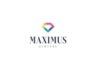 Logotype Maximus Jewelry jewelry diamond rainbow logo logotype branding
