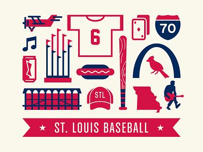 St. Louis Baseball st. louis stl cardinals baseball poster screen print vector redbirds mlb