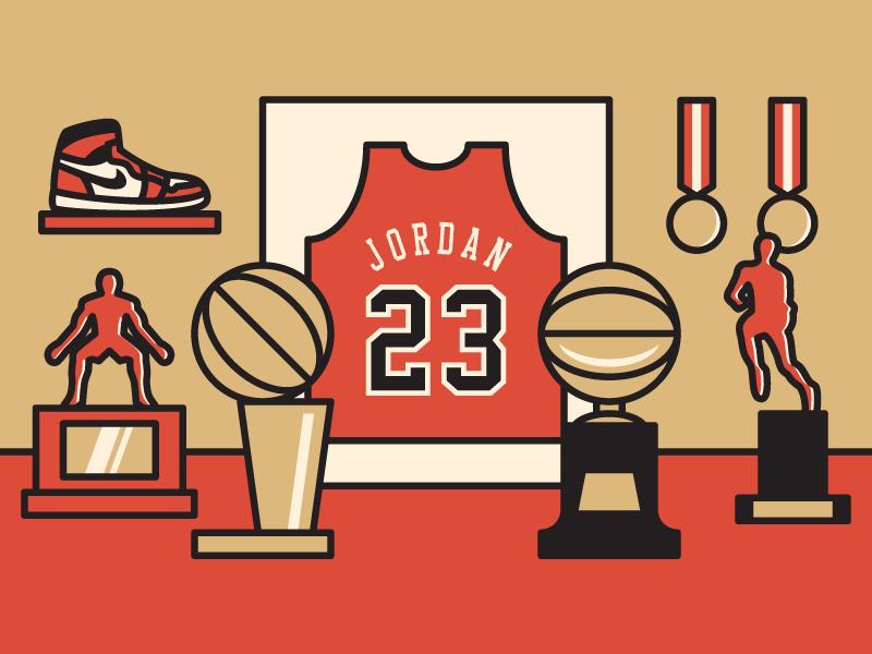 3656f42006ce Michael Jordan michael jordan chicago bulls chicago bulls basketball nba  vector illustration trophy trophy room sports
