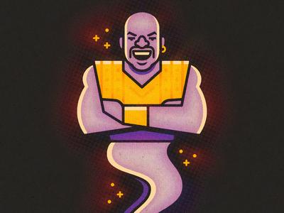 Kazaam shaq kazaam illustration vector genie basketball sports movie