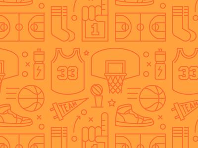 Basketball Pattern basketball march madness sports vector illustration