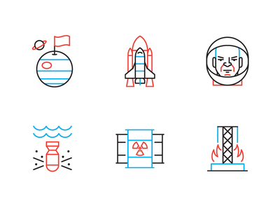Foreign Policy foreign policy editorial icons nuclear space vector icon illustration