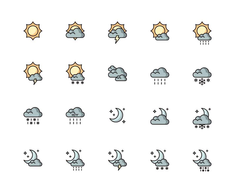 Weather set full